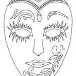 mascaras de carnaval para imprimir de veneza 2