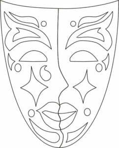 mascaras de carnaval para imprimir de veneza