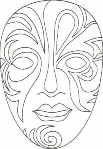 mascaras de carnaval para imprimir de veneza 3