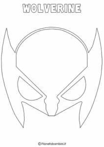 mascaras de carnaval para imprimir de wolverine