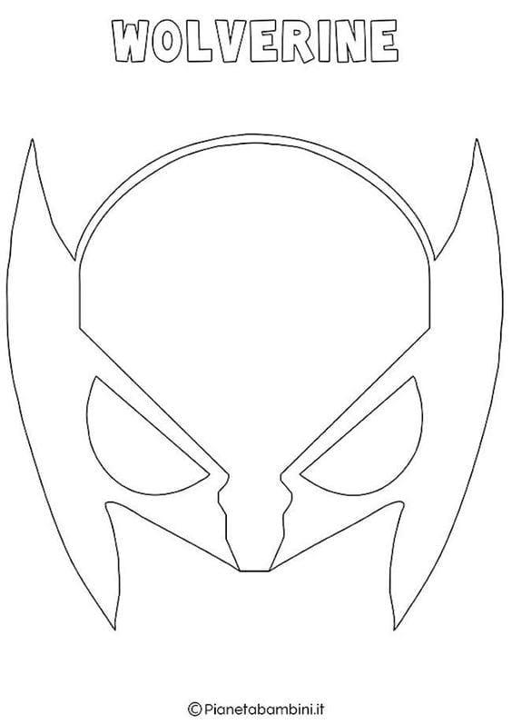 Mascaras De Carnaval Para Imprimir De Wolverine Criando Com Apego