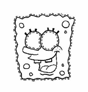 mascaras de carnaval para imprimir do bob esponja