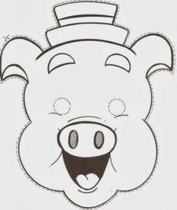 mascaras de carnaval para imprimir dos tres porquinhos
