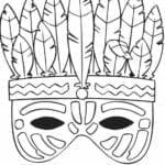 mascaras de carnaval para imprimir india
