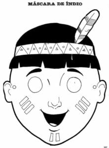 mascaras de carnaval para imprimir indigena