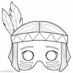 mascaras de carnaval para imprimir indio 1