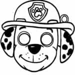 mascaras de carnaval para imprimir marshall patrulha canina