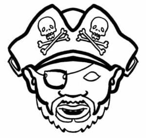 mascaras de carnaval para imprimir pirata malvado