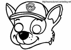 mascaras de carnaval para imprimir rock patrulha canina