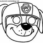 mascaras de carnaval para imprimir rubble patrulha canina