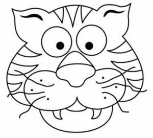 mascaras de carnaval para imprimir tigre