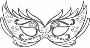 mascaras de carnaval para imprimir triste