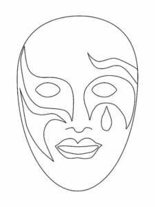 mascaras de carnaval para imprimir veneza 4