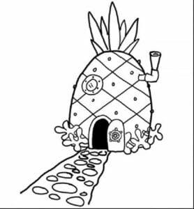 abacaxi para imprimir