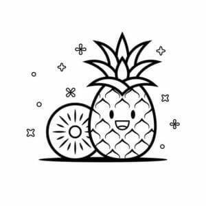 abacaxi para pintar e imprimir