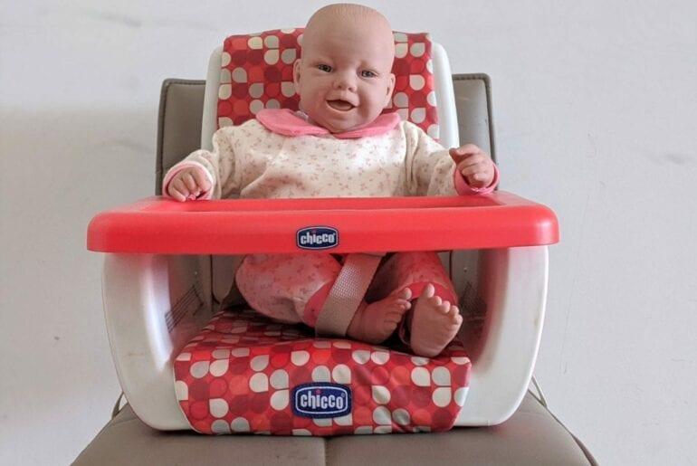cadeira portatil de alimentacao chicco