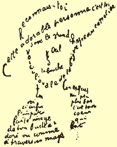 Caligrama, de Auguste Apollinaire