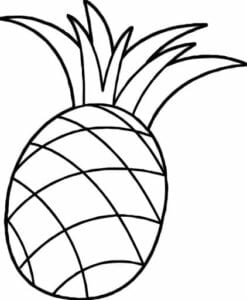 desenhos de abacaxi para imprimir