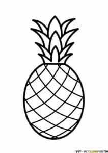 figuras para imprimir de abacaxi