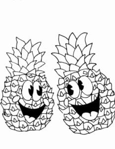 imagens para colorir abacaxi