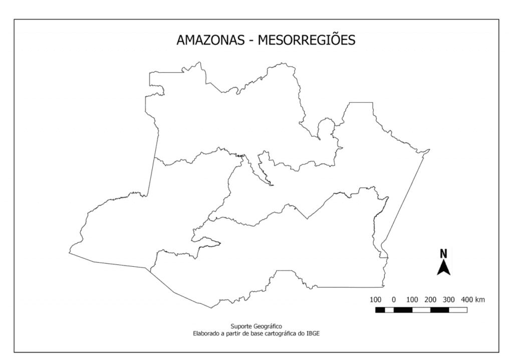 mapa do amazonas para imprimir mesorregioes