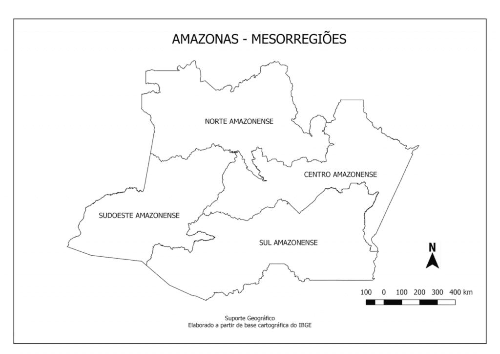 mapa do amazonas para imprimir mesorregioes com nomes