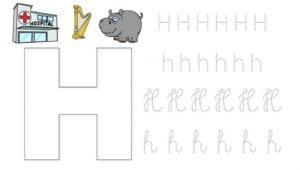 alfabeto pontilhado cursivo h