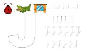 alfabeto pontilhado cursivo j