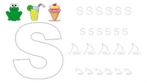alfabeto pontilhado cursivo s
