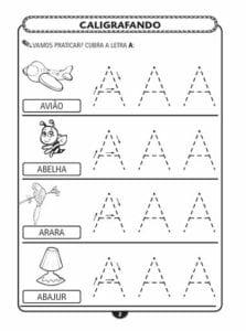 alfabeto pontilhado letra bastao a