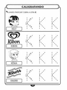 alfabeto pontilhado letra bastao k