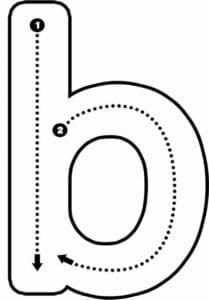 alfabeto pontilhado para imprimir b