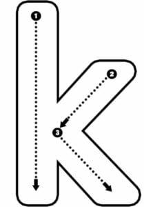 alfabeto pontilhado para imprimir k