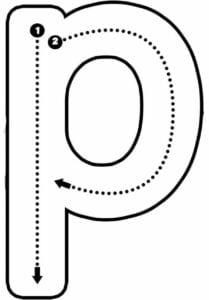 alfabeto pontilhado para imprimir p