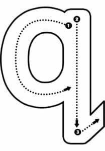 alfabeto pontilhado para imprimir q