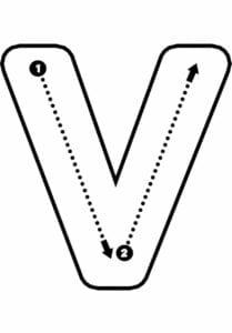 alfabeto pontilhado para imprimir v
