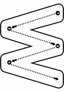 alfabeto pontilhado para imprimir w