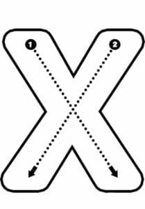 alfabeto pontilhado para imprimir x