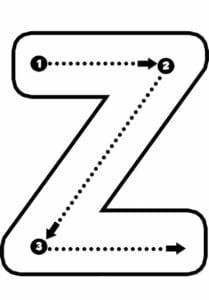 alfabeto pontilhado para imprimir z