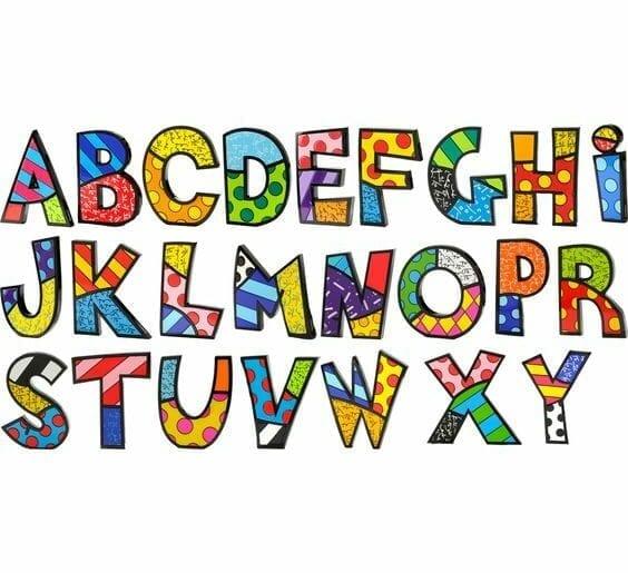 alfabeto romero britto 1