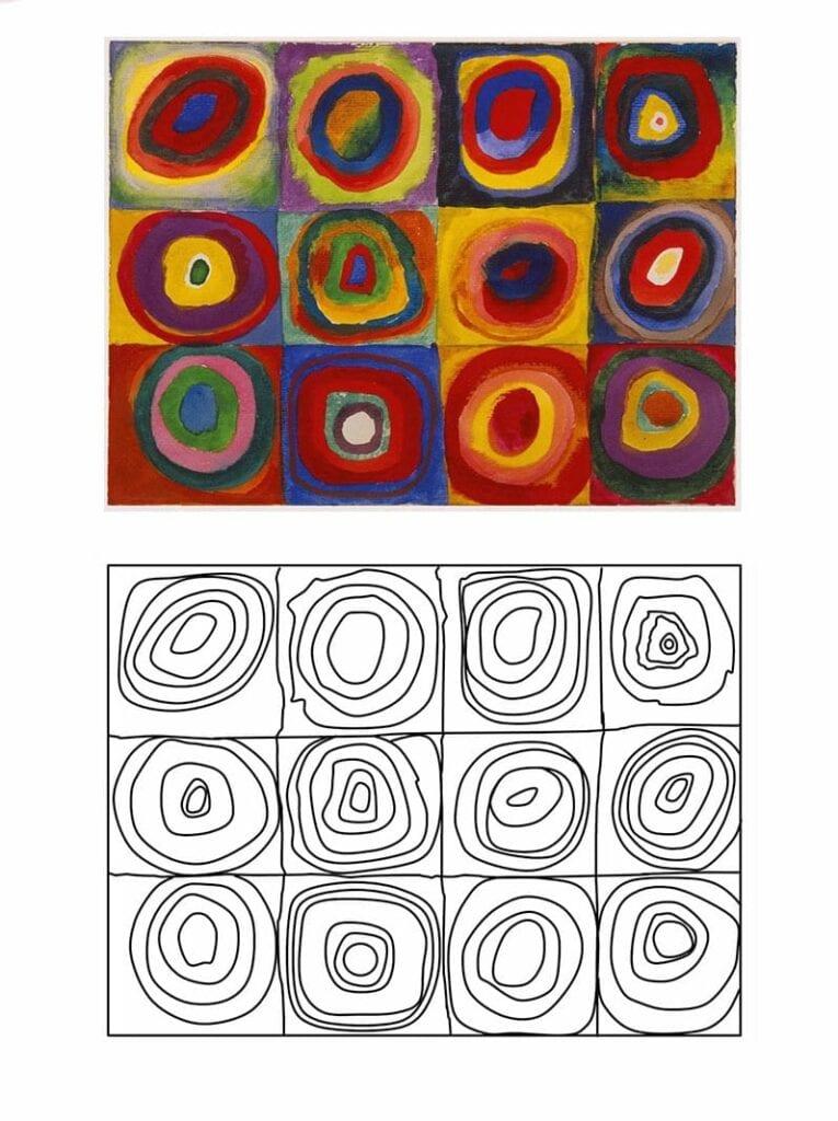 atividade de artes circulos concentricos de kandinsky 09
