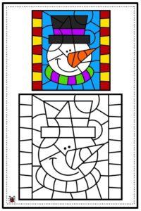 atividade de mosaico infantil para imprimir 01