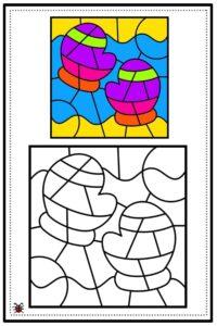 atividade de mosaico infantil para imprimir 02