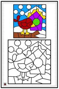 atividade de mosaico infantil para imprimir 03