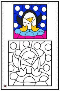 atividade de mosaico infantil para imprimir 04