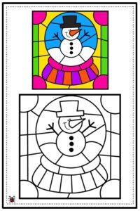 atividade de mosaico infantil para imprimir 05