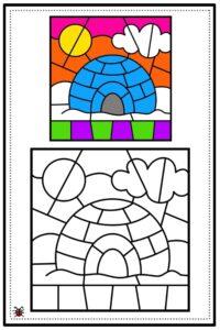 atividade de mosaico infantil para imprimir 06