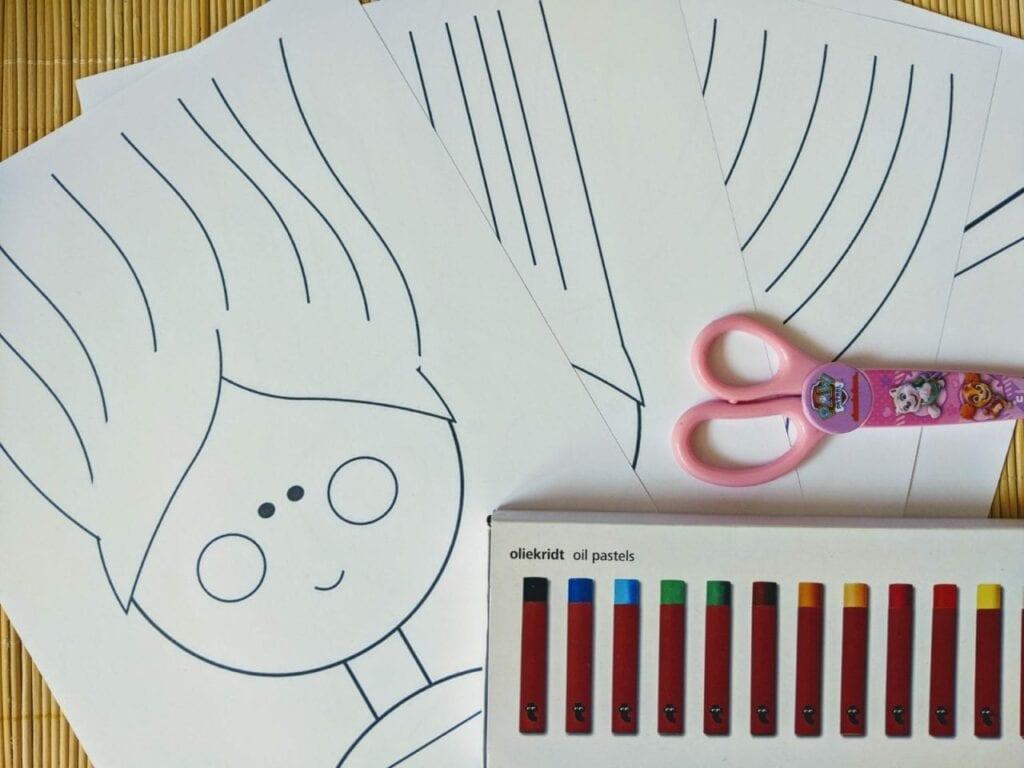 atividade para recortar cabelo de papel 02