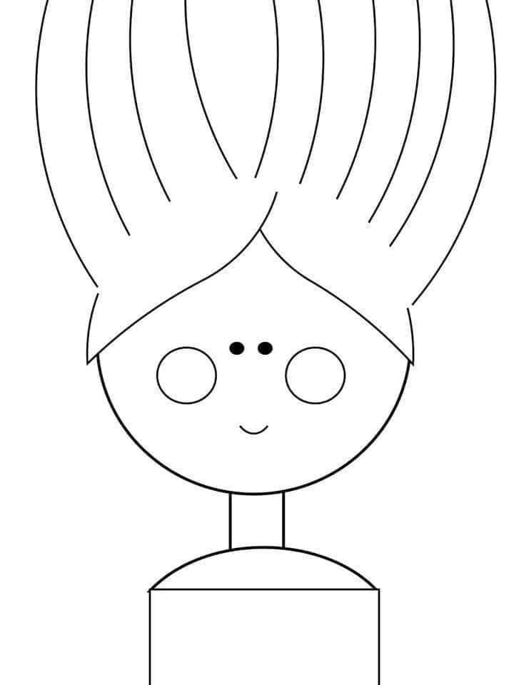 atividade para recortar cabelo de papel 07