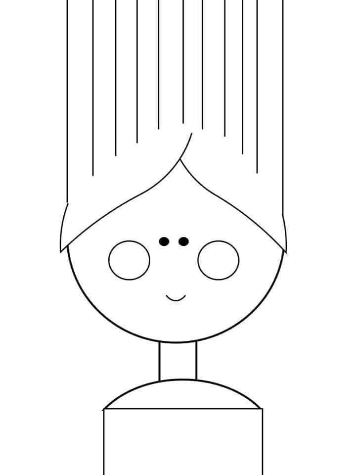 atividade para recortar cabelo de papel 09